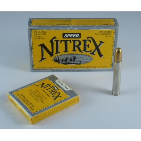 MUNICION SPEER NITREX .458 WIN MAG 500gr. SOLID AFRICAN GRAND SLAM